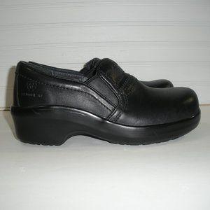 Ariat Expert Safety Clog Blk Leather Women Sz 7B